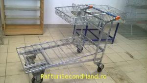 Carucior cu platforma pentru supermarket